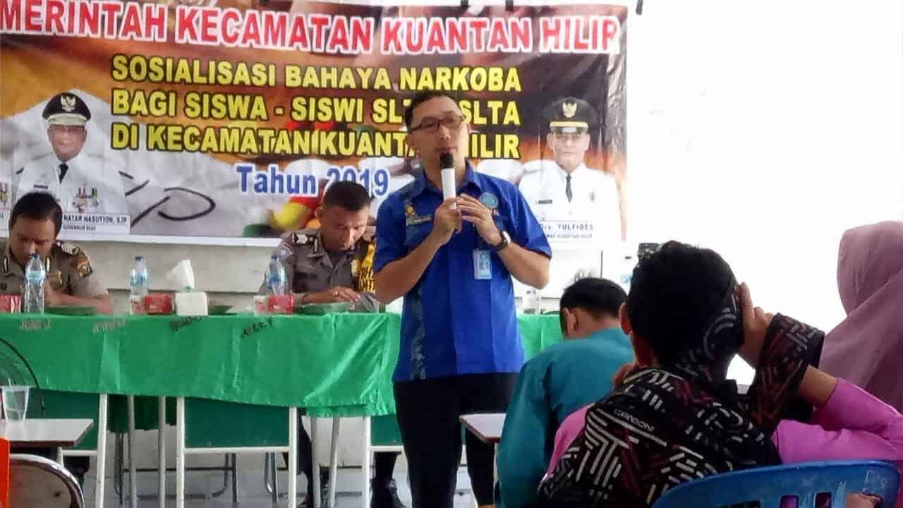 Sosialisasi Bahaya Narkoba bagi Siswa-Siswi SLTP/SLTA di Kecamatan Kuantan Hilir Tahun 2019 (13/12/2019)
