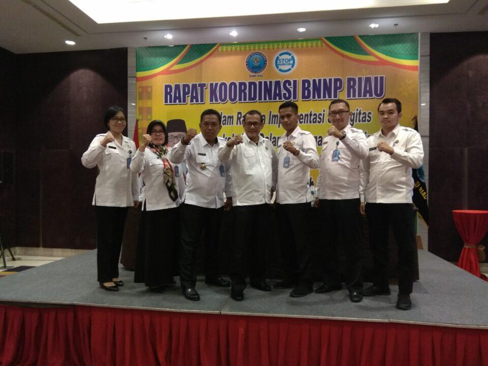 Rapat Koordinasi BNNP Riau